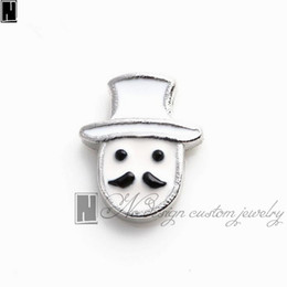Wholesale New Designs For Glass Memory - No Design Custom jewelry charms new Alloy silver enamel Bearded gentleman floating glass charms for living memory lockets