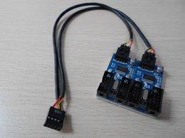 Wholesale Desktop Cases - PC Case Internal 9Pin USB 2.0 1 to 4 Splitter PCB Chipset Enhanced Extender