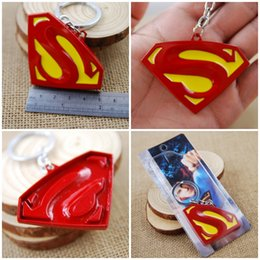 Wholesale Compass Keychain Logo - Free DHL Superman Logo Alloy Brand New Keychain Approx 7*5 Cm Pendant Movie Toy Pendant Key Holder Superman Keyrings Gift K26L