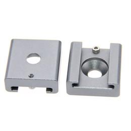 """Wholesale Wholesale Shoe Camera - CAMVATE 2pcs Cold Shoe Mount Adapter Bracket Hotshoe with 1 4"""" Mounting Hole"""