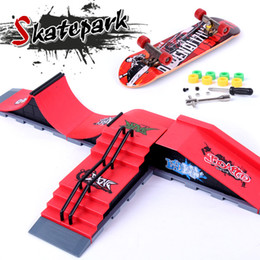 Wholesale Parks Mini - Wholesale-Ultimate Parks Ramp Parts A-F Finger Skateboard Fingerboard Ramps Skate Park For Tech Dec Mini Skateboard Toy Finger Board Toy