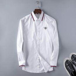 Wholesale Mens Striped Dress Shirt - 2017 Brand Men's Business Casual shirt mens long sleeve striped slim fit camisa masculina social male shirts new fashion shirt #8510