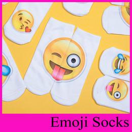 Wholesale Boys Slipper Socks New - 2017 New Style Emoji Slippers Printing Cartoon Socks Men Women Socks Ankle Socks Teenagers Boys Girls Lovely Low Cut Protective Sleeves