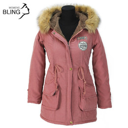 Wholesale Ladies Brown Winter Coats - Wholesale-Thickening Parkas Winter Jacket Women Coats Female Outerwear Plus Size Casual Long Down Cotton Wadded Lady Woman Fashion Warm