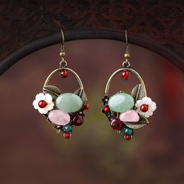 yunnan handmade Canada - Original design of yunnan ethnic wind earrings female temperament of retro Bohemian earrings handmade jewelry