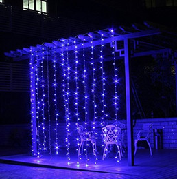 Wholesale Wholesale Christmas Round Ornaments - Curtain lights christmas lights 10*8m 10*5m 10*3m 8*4m 6*3m 3*3m led lights Christmas ornament lights Flash Colored Fairy wedding Decor