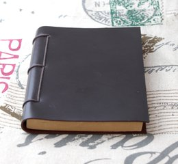 Wholesale Brown Origin - Wholesale- Origin Design handmade thick Diaries Journals notebook genuine leather brown A5 D0522