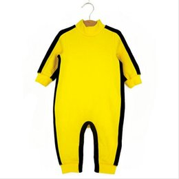 Wholesale Gril Baby - Baby costume high quality brand Bruce Lee baby clothes new arrival Kong Fu infant boy gril jumpsuit bebe rompers for newborns