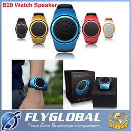 Wholesale Free Music Movement - B20 Bluetooth movement Music watch Portable Mini Watch Bluetooth 2.1+EDR Sport Speaker TF Card FM Audio Radio Speakers free shipping