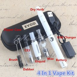 Wholesale Wax Brushes Wholesale - 4 in 1 Vape Starter Kit Globe Glass Wax Pen Ago Dry Herb Vaporizer CE3 Tank Cartirdge MT3 Eliquid Atomizers Dabber Brush Vaping