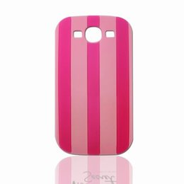 Wholesale S3mini Phone - 2016 at a sale products !!! Samsung S3 S4 S5 S3mini S4mini S5mini cell phone cases pink soft silicone back cover stripe design