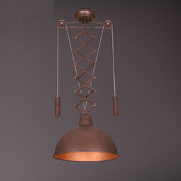 Wholesale Rusty Metal - Kitchen rusty Vintage pendant lamp Metal balcony modern corridor lights for home decorations the bedroom living room ceiling lamps