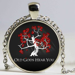 Wholesale Glass Crystal Christmas Tree - Game of Thrones glass cabochon movie necklace Pendant A Song of Ice and Fire necklace tree Jewelry Women Necklaces