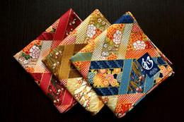 Wholesale Children Hankies - Fashion Japanese 100 cotton handkerchiefs,beautiful floral Patchwork design ladies mens Hanky, 52*52cm