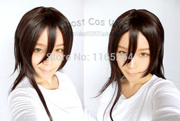 Wholesale Sword Art Wig - Wholesale-New Sword Art Online Cosplay Kirito Cosplay Wig Black Mens Sword Art Online Kirito Cosplay Wig