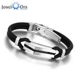 Wholesale Michael Set - Wholesale-Sports Cuff Jewelry Bracelets190mm 316L Michael Wrap Stainless Steel Bracelet Bangle Men Jewelry (JewelOra BA100829)