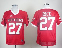 Wholesale Rice Toppings - Cheap Top Quality 2017 New Style College Rutgers Scarlet Knights Jerseys Red #27 Ray Rice Jersey Stitched College baseball Jerseys