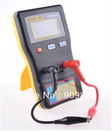 Wholesale online testers - AutoRanging ESR Electrolytic Capacitor Low Ohm Meter Electronic Capacitive Resistance Tester 0.01 to 100R Online Test MESR-100