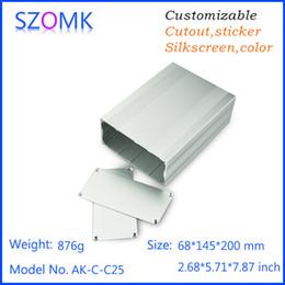Wholesale Wholesale Powder Coating Supplies - 10 pcs, 68*145*200mm powder coating enclosure aluminum junction box aluminum case power supply project box pcb outlet boxes AK-C-C25
