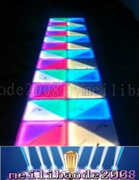 Wholesale led disco floor - RGB Led Dance Floor Panel Dancing Dance Floor Stage Light Disco Panel 432pcsX10mm LED Dance Floor Disco KTV Light Stage Lighting Floor MYY18