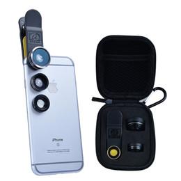 Wholesale-APEXEL Phone Lens Kit 3 in 1 198 Degree Fisheye Lens, 0.63X Wide Angle Lens 15X Macro Lens for  5S 6S Xiaomi SamsungS7 DG3 от