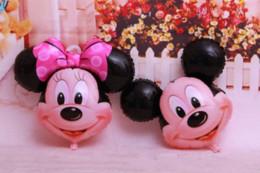 Wholesale Mouse Pas - 30pcslot Mickey Mouse Foil Balloon Film Figure Helium Balloon (Cartoon design) , Kids Birthday Party Supplies