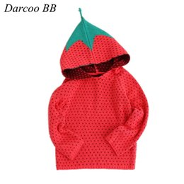 Wholesale Sweaters For Winter Kids - Wholesale- New Autumn Winter Kids Sweater Red Strawberry Style For Boys Girls Baby Fall Sweaters Winter Clothing