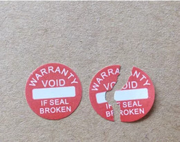 Wholesale Universal Labels - Diameter 10 mm Warranty sealing label sticker void if damaged, Universal with years and months, Free shipping for 500pcs lot