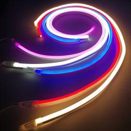 Wholesale Strip Flexible Pvc Light - LED Neon Sign Light Flex Rope Led Neon Flexible Tube PVC Rope Strips Light Night Bar Disco Christmas Party LED Neon Sign