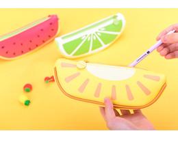 Wholesale Watermelon Pen Case - Big Volume Watermelon School Kids Pen Pencil Bag Case Gift Pendant Cosmetics Purse Wallet Holder Pouch School Supplies