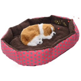 Wholesale Soft Pet Dog Nest Puppy - 1Pcs Dog Puppy Cat Soft Dot Warming Bed Warm House Plush Mat Warm Winter Nest for Pet Products 4 Colors Free Shipping