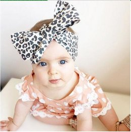 Wholesale Girls Hair Accessories Leopard Print - 15% off! 50pcs  New arrival Baby Girl Toddler Infant Leopard Print Floral Hairband Bow Knot Headband Elastic Stretch Hair Band Accessories