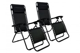 Wholesale 2 Lounge Patio Chairs Outdoor Yard Beach New Zero Gravity Chairs Case Of