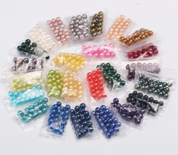 Wholesale Freshwater Pearls Loose Beads - wholesale Loose Pearl Grade AAA 6-7 mm Round Freshwater Dyed colorful for DIY Pearl jewelry Beads birthday gifts