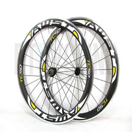 Wholesale Aluminum Road Wheelset - AWST 3k UD 50mm carbon road wheels 700C 20 24h Aluminum alloy brake surface racing bike rim bicycle cycling Clincher Road bicycle wheelset