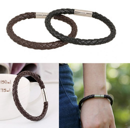 Wholesale Charm Bracelets Low Price - Low price New Product Black and Coffee Spring Jewelry Braiding Bracelets Men Cuff Bangles Leather Womens Bracelet Gifts