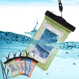 Wholesale Waterproof Pouch Cellphone - Universal PVC Waterproof Phone Case Dry Bag General Swimming Diving Sport Protection For iPhone X 8 7 plus Samsung note8 Cellphone OPPBag