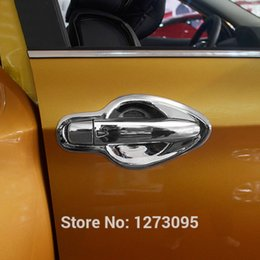 Wholesale Chrome Door Handles Cover - ABS Chrome Door Handle Cover Bowl for 2014 2015 2016 Nissan Qashqai Side Door Handle Cover Trim Car Styling Accessories 8pcs set