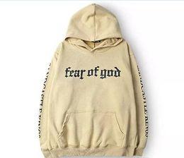 Wholesale Highest Quality Hoodie - Men Brand Fear Of God Hoodie Beige Purpose Tour Sweatshirt Gorilla Wear Hiphop Sweatshirt Skateboard Wes High Quality Hoodies