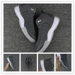 Wholesale Pro Sport Hockey - New Retro Pro Men Basketball Shoes Retro Grey Sports Sneakers High Quality With Shoes Box
