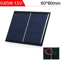 Wholesale Solar Cell Epoxy - ELEGEEK 0.65W 1.5V 80*60*3mm Solar Cell with Cable Polycrystalline Epoxy Resin Encapsulated Solar Panel for DIY Test and Education