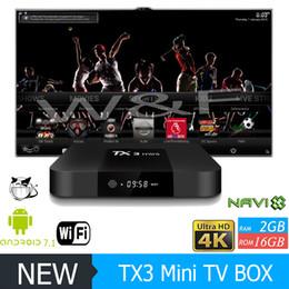 Wholesale Original Boxing - Original TX3 MINI Android 7.1 TV Box Amlogic S905W KD 17.4 Krypton 1GB 8GB  2GB 16GB Better T95M X96 MXQ PRO