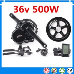 Wholesale Motor Electric Ebike - Bafang BBS01 36V 500W Ebike Motor with LCD 8FUN mid drive Electric Bike conversion kits