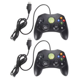 Wholesale Xbox Games System - Freeshipping 2pcs  lot Black gamepad Controller for Xbox System Wired Controller Game Pad for Microsoft XBOX S Type 2 Gamepad