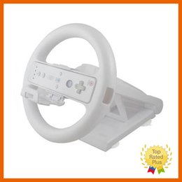 Wholesale Racing Game Controller - New White Multi-angle Racing Game Steering Wheel Stand for Nintendo Wii Console Controller Without Remote & Nunchuck