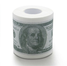 Wholesale Currency Paper - HDE Novelty $100 USD Dollar Bill Funny Money Currency Toilet Tissue Paper Roll Funny Money Currency Toilet Tissue Paper Roll