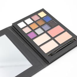 Wholesale Net 25 - 12pcs Makeup Eyeshadow Palette 12 colors Matte&Shimmer Eye Shadow Palette + 4 Colors Contour Powder Net 25 g 6004
