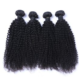 Wholesale Dhl Hair Peruvian - 8A High Quality Peruvian Kinky Curly Unprocessed Thick Human Hair Extensions 8-30inch Natural Black Color Dyeable 4pcs lot Free Shipping DHL
