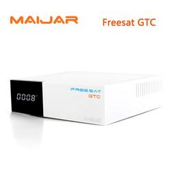 Wholesale Free Digital Tv Box - 5pcs FREE SAT OTA Freesat GTC S905D Android 6.0 TV Box DVB-S2 T2 Cable ISDB-T Digital Satellite Receiver Combo