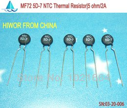 Atacado- (100pcs / lot) (resistores térmicos) 5D-7 NTC Resistor Térmico, 5 ohm máx. Corrente Estável: 2A de